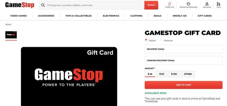 Gamestop gift card balance