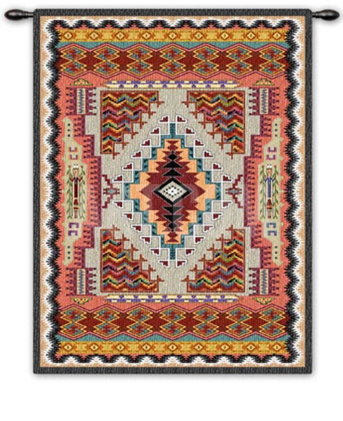 This finely crafted wall tapestry is made in the USA by skilled artisans, using Jacquard looms and pure cotton yarn. An iron rod and finial are included, in...