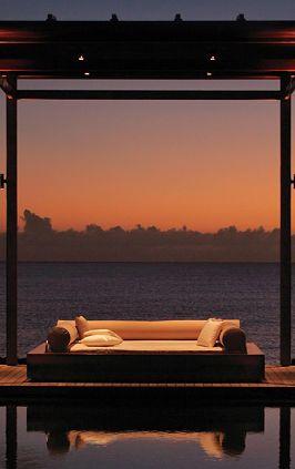 Sunset Beach Relaxation, Aman Resort