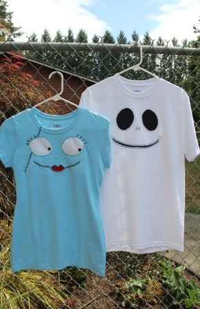 Jack and Sally T Shirts - Crafty Staci 1