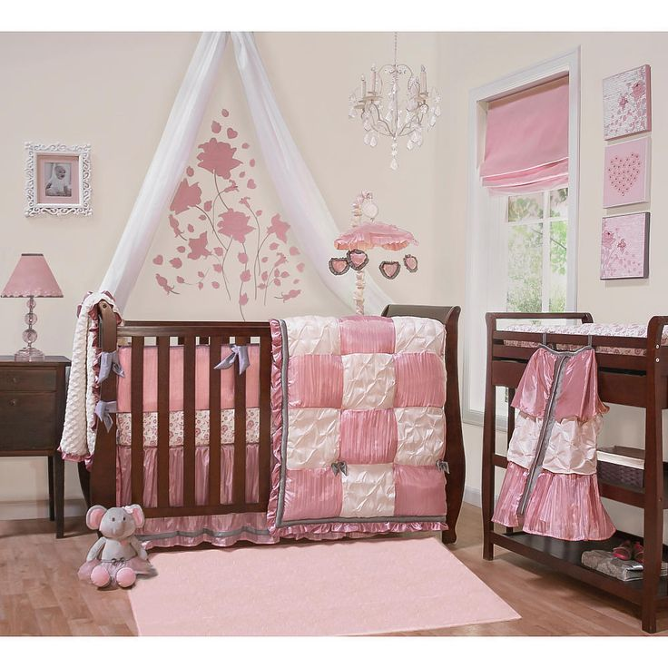 pink baby furniture. bella 6 piece bed set peanut shell babies pink baby furniture
