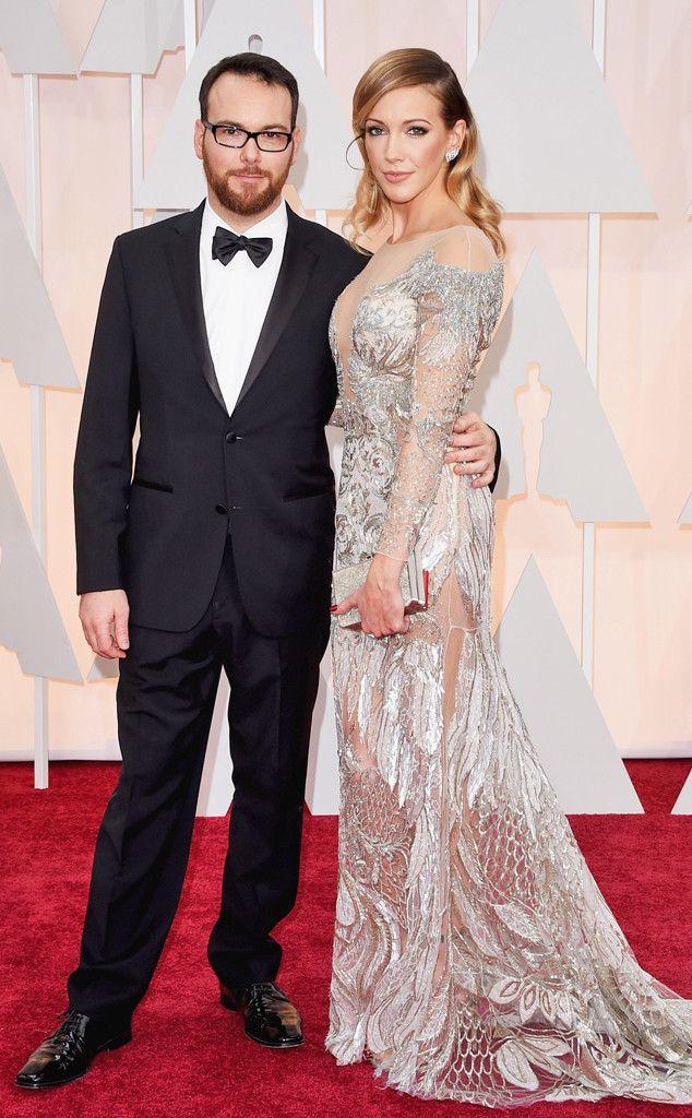 Dana Brunetti & Katie Cassidy In Hugo Boss and Julien MacDonald- 2015 Oscars