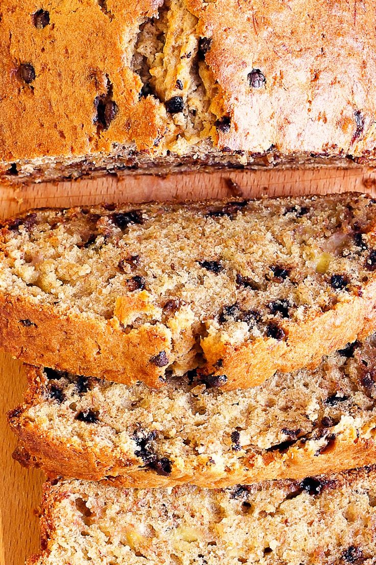 Moist, Rich, and Delicious Chocolate Chip Banana Bread Recipe with Walnuts - 15 Minute Prep Time