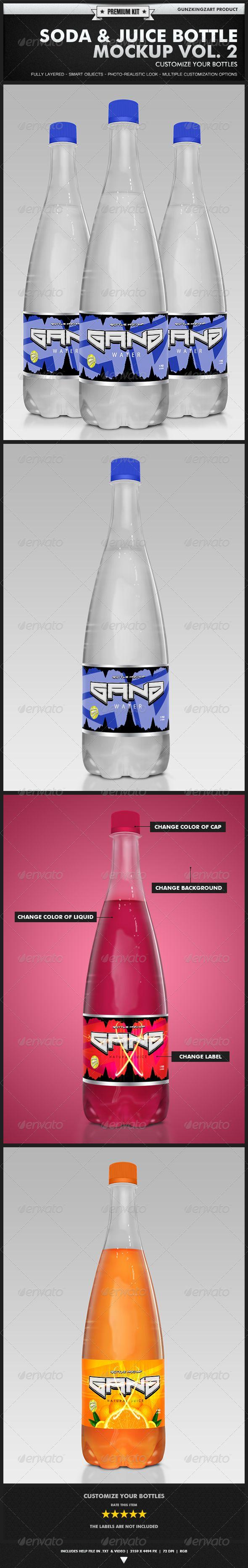 Soda & Juice Bottle Mockup Vol. 2 - Premium Kit