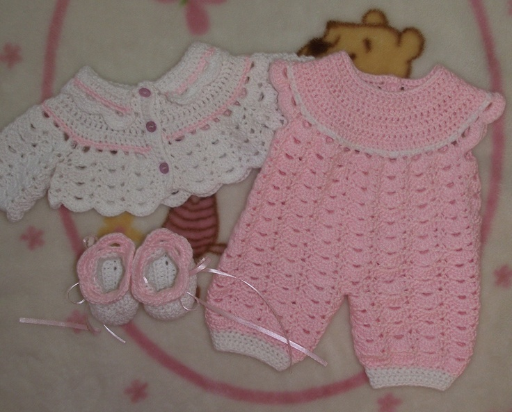 3 Baby Girl Crochet Outfits & 2 pairs of by TJsCrochetCreations