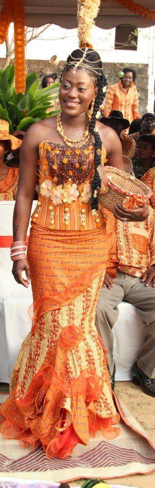 Mariage aux couleurs de l'Afrique Mademoiselle Dentelle