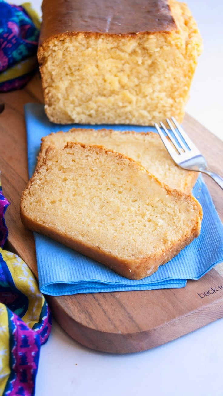 Eggless Condensed Milk Pound Cake...with Orange Juice and a hint of Cardamom