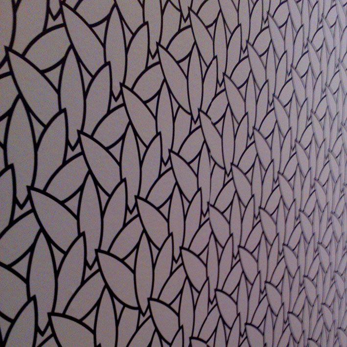WallPaper. Leaves. Black & White.