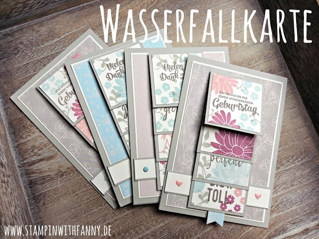 stampin with fanny: Workshop-Projekt #1: Blumige Wasserfallkarte