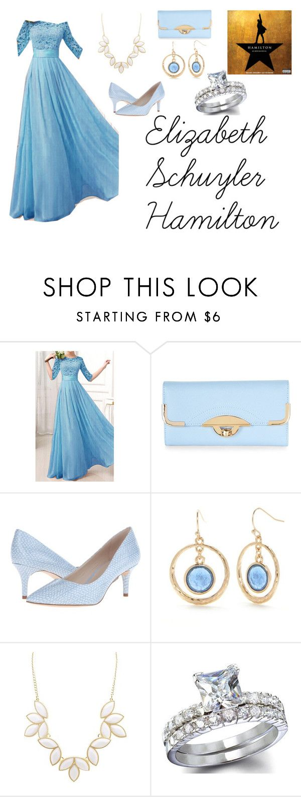 """""""Elizabeth Schuyler Hamilton"""" by fandom-outfits-for-girls ❤ liked on Polyvore featuring New Look, Nine West, New Directions and Charlotte Russe"""