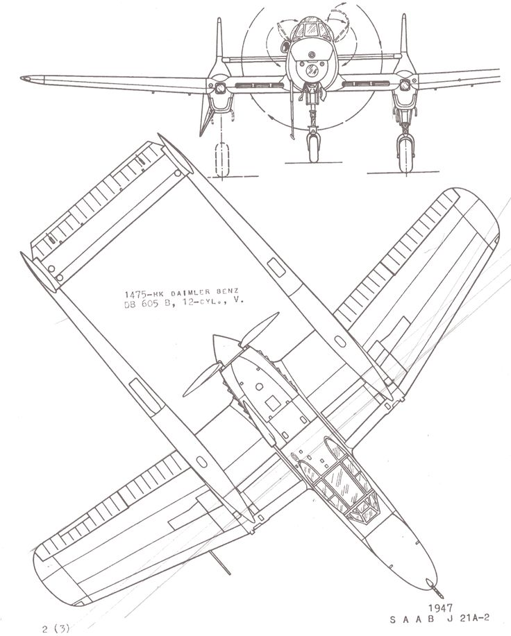 Saab 21 Blueprint Odd And Rare Planes Blueprints Pinterest