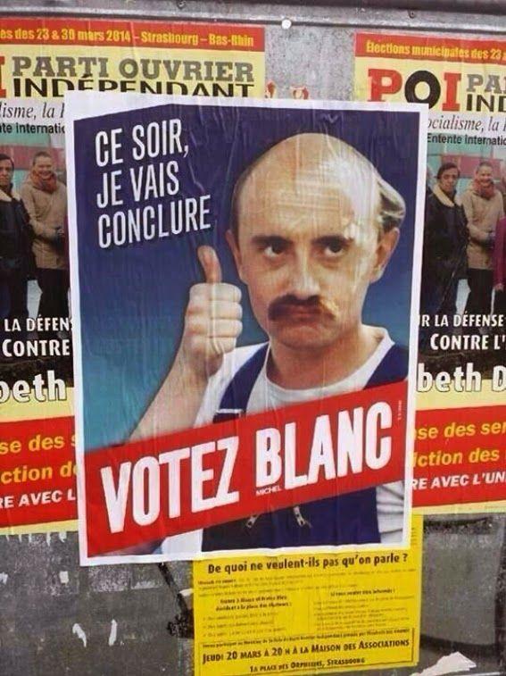 """Résultat de recherche d'images pour """"je vote blanc michel"""""""