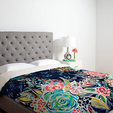 DENY Designs Stephanie Corfee Night Bloomers Duvet Cover in Blue >> Bed Bath & Beyond