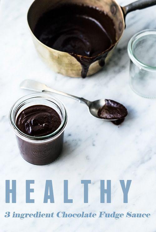 3-ingredient Chocolate Fudge Sauce (no added sugar, grain free, vegan, gluten free)