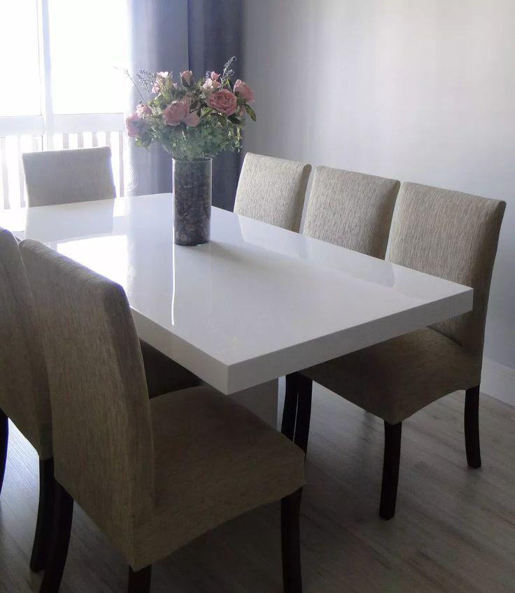 mesa de jantar 8 lugares resina verona  2.00 x 0.80 branca