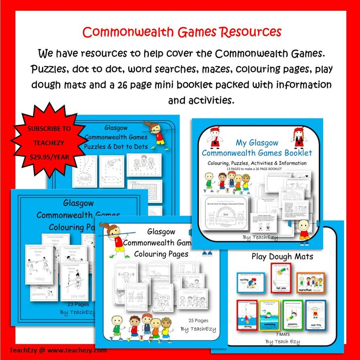 Commonwealth games resources for the classroom...we have it covered at www.teachezy.com