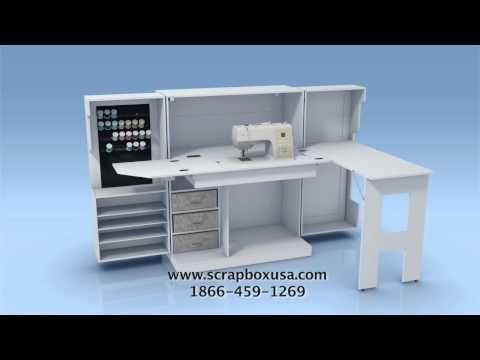 The WHITE Sewing Box by The Original ScrapBox - 3D Video #SewingBox http://theoriginalscrapbox.com/