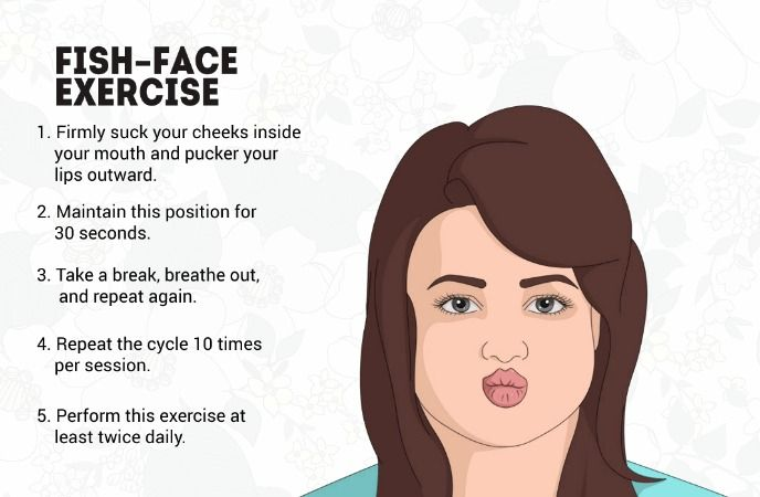 Fish-Face Exercise For Getting Rid Of Chubby Cheeks