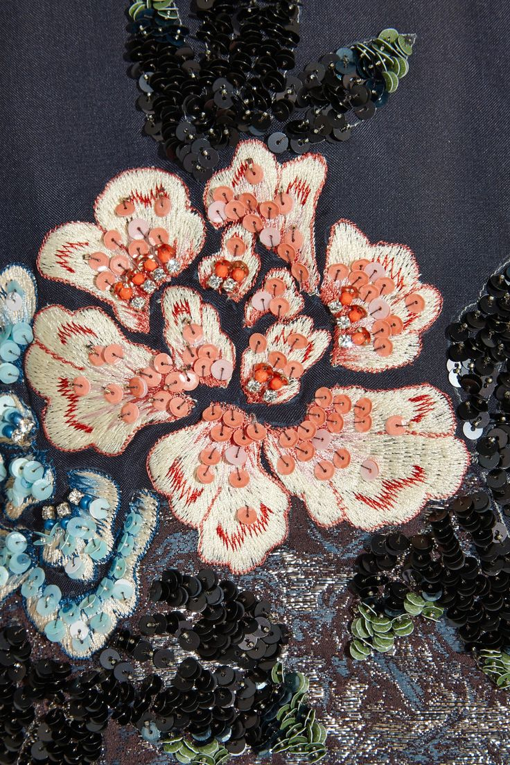 Biyan | Cana embellished embroidered silk-blend organza cape | NET-A-PORTER.COM