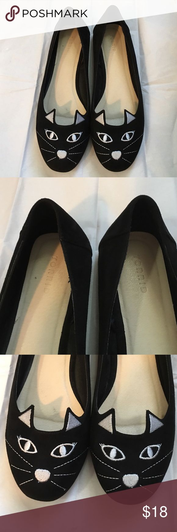 Torrid Cat shoes - Sz 11 These are extremely cute and lightly worn.  They are in good condition!  Make me an offer! torrid Shoes