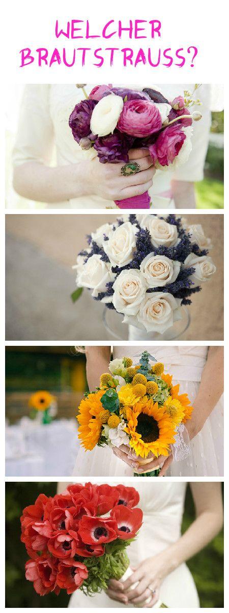 Welcher Brautstrauß passt zu deiner Hochzeit? Und welche Blumen haben wann Saison? www.gofeminin.de #lavendel #ranunkeln #pfingstrosen #sonnenblumen