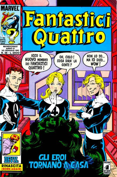 Cover for Fantastici Quattro (Edizioni Star Comics, 1988 series) #38