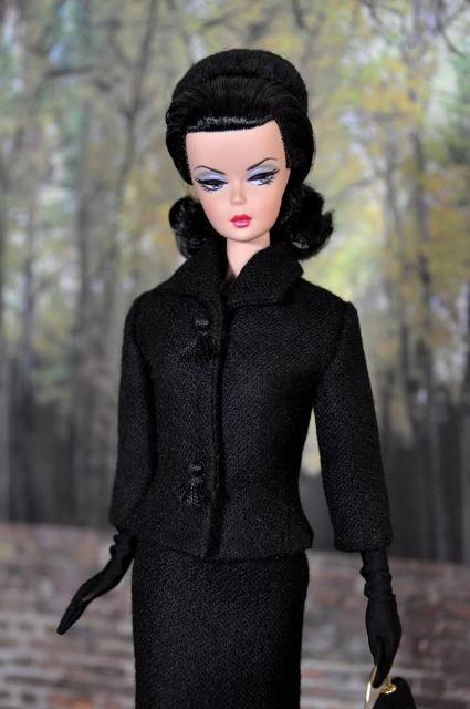 Barbie as Jackie O - JFK funeral suit (Veil removed)