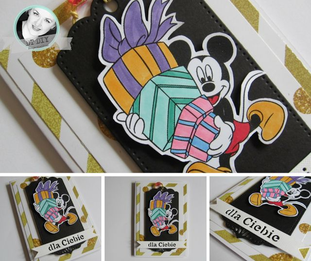 "ProjectGallias: #projectgallias: Inspiracja do wyzwania Bajkowy świat, kartka z myszką Mickey Disneya, The inspiration in ""Kid's world"" challenge, handmade card with Mickey Mouse!"