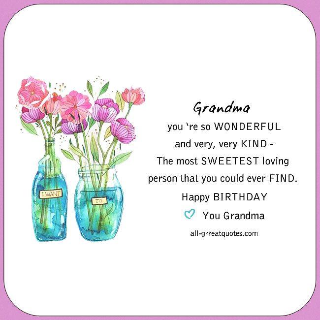 happy birthday grandma  happy birthday grandma happy