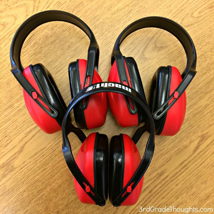 Noise Blockers to help kids stay focused during independent work time in class. Definitely helps those students who need as little distraction as possible to complete tasks!