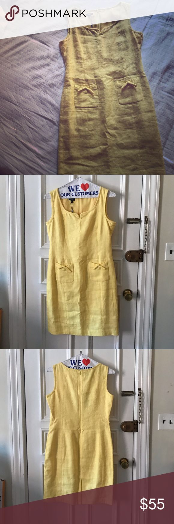 Talbots Yellow Fitted Dress. Great for work! Really pretty on! It has a classic …