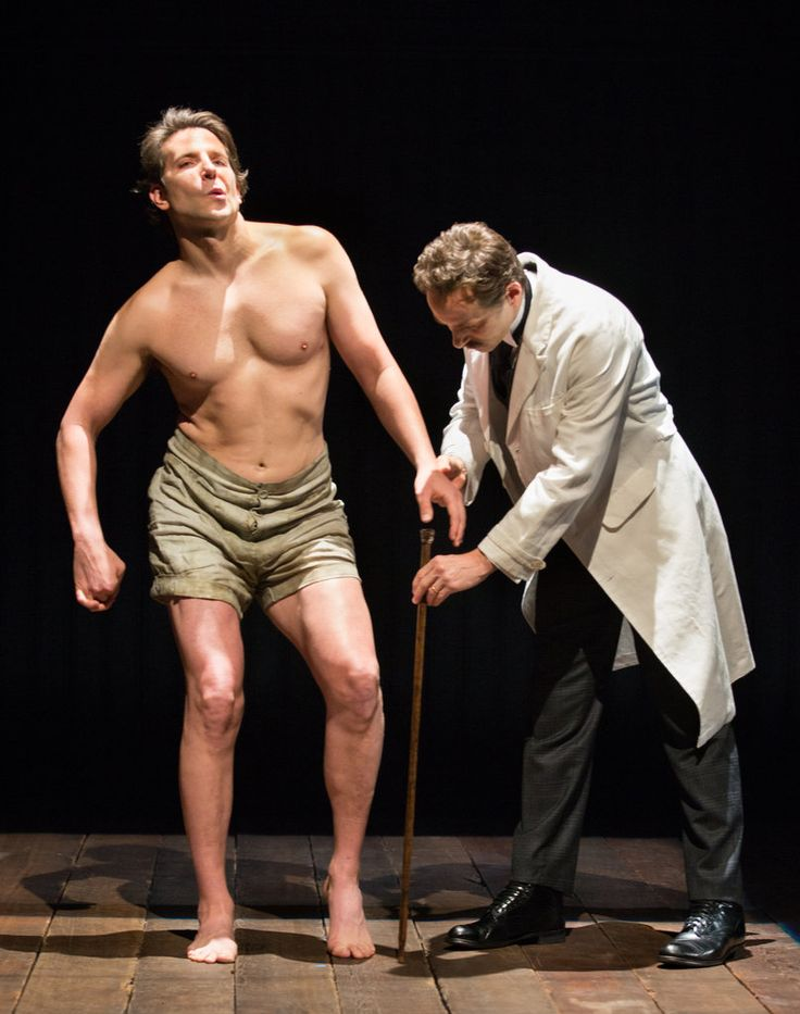 """Bradley Cooper plays the title role in a sturdy Broadway revival of """"The Elephant Man,"""" at the Booth Theater."""