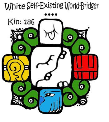 Kin 186: White SelfExisting Worldbridger 'Defining Death'   Time Waves