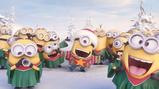 AMC Theatres are sending a Christmas message this year via the adorably funny Minions from Despicable Me.