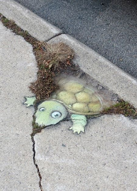 David Zinn art/ sokak sanati.