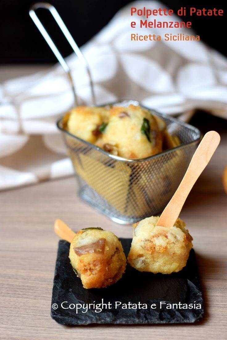 Ricetta polpette melanzane e patate | Polpette Melanzane | Ricetta siciliana | Ricetta vegetariana | Polpette senza uova | Ricetta facile con melanzane