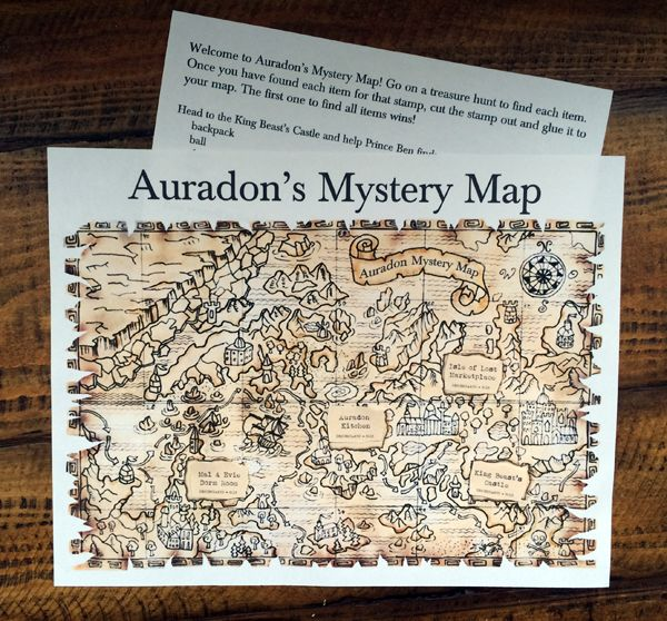 Disney Descendants Auradon Mystery Map | Giveaway Bandit