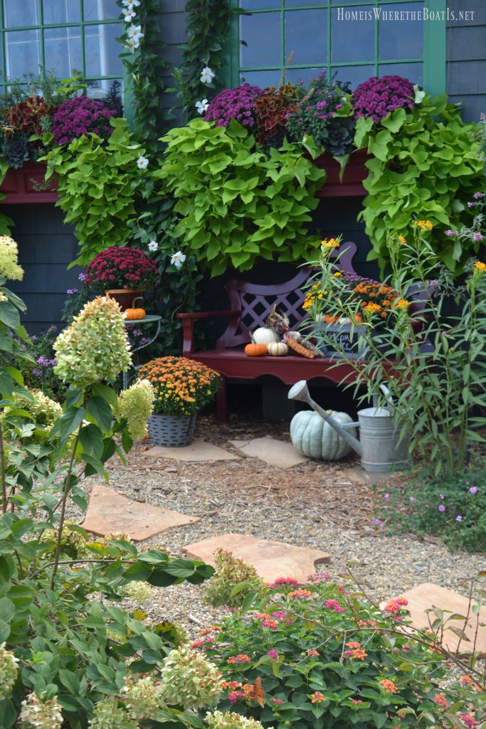 Potting Shed summer to fall transition | Homeiswheretheboatis.net