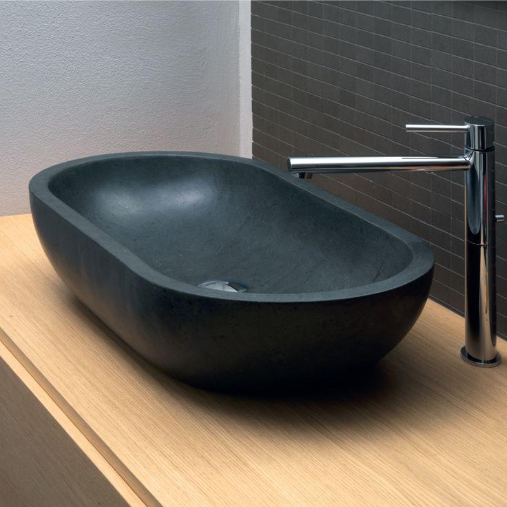 Håndvask Support Oval i Basalt Black Riau