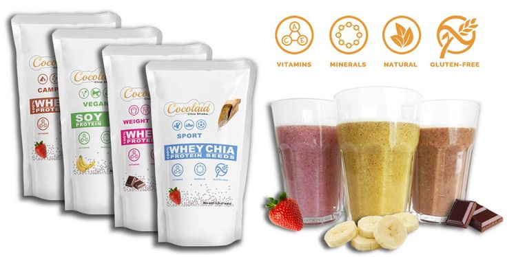 Cocolaid - Chia Shakes - WHEY & CHIA. Complete Meal Shakes