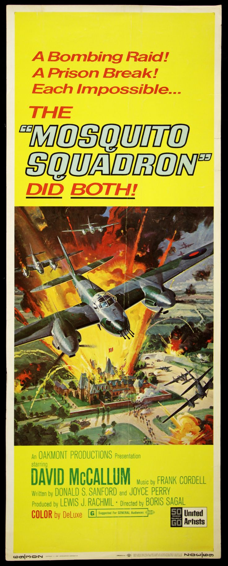 1969 Pop Culture | 1969 Mosquito Squadron Insert (14x36) Original Movie Poster (MEARS LOA ...