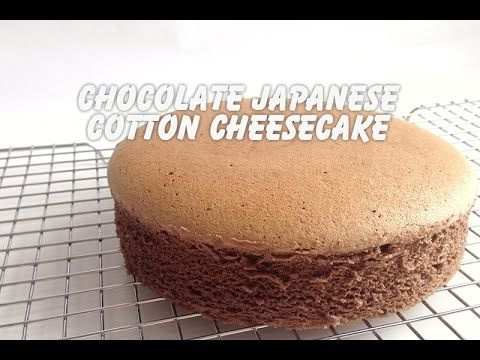 Chocolate Japanese Cotton Cheesecake - YouTube