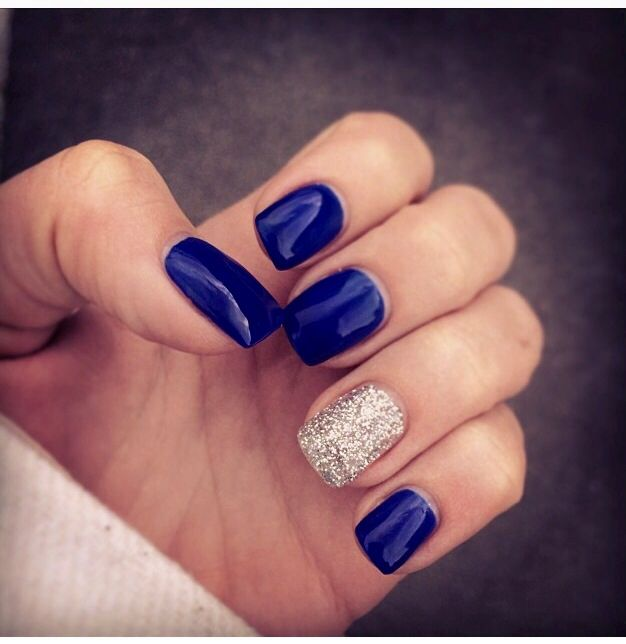 Gorgeous blue w/ glitter for winter