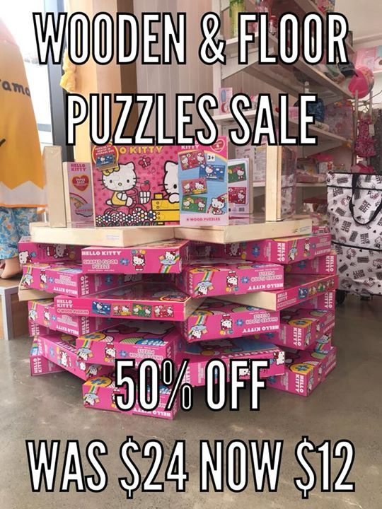 Happy New Year 2018!    30% OFF all Summer items.  Sandals, summer apparels, swimming gears, picnic itmes and much more!  Plus all kids puzzles are 50% OFF. Great for summer school holiday activity.  Visit Sanrio Northwest today! #bags #shoes #gifts #souvenir #collection #girlsfashion
