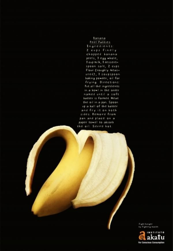 "Conscious Consumption Awareness: ""BANANA"" Print Ad by Leo Burnett Brasil 