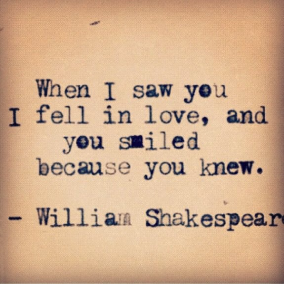 William Shakespeare. This is beautiful.