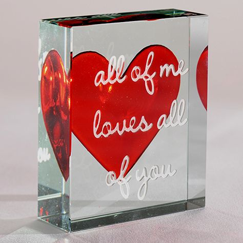 In the words of John Legend 'all of me loves all of you'. This beautiful token builds on our original red heart design and lends it a modern twist with the lyrics of one of our favourite singers. #JohnLegend #love #gift #Spaceform #London