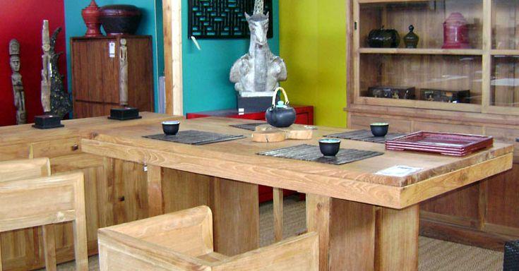 Table salle à manger  #meuble #teck #bois #design #ruedesiam