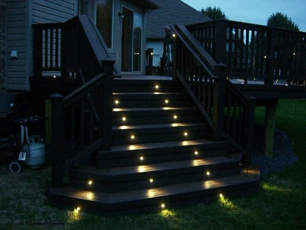 Lighting Basement Washroom Stairs: 17 Best Images About Deck Ideas On Pinterest