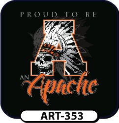 Gray, white, and orange is used to complete the look of this popular design! Use any letter, colors, and mascot for t-shirts that are all your own. spiritwear.com